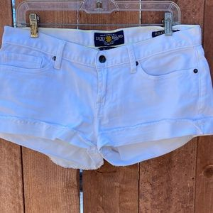 Lucky Brand Riley Denim Shorts White